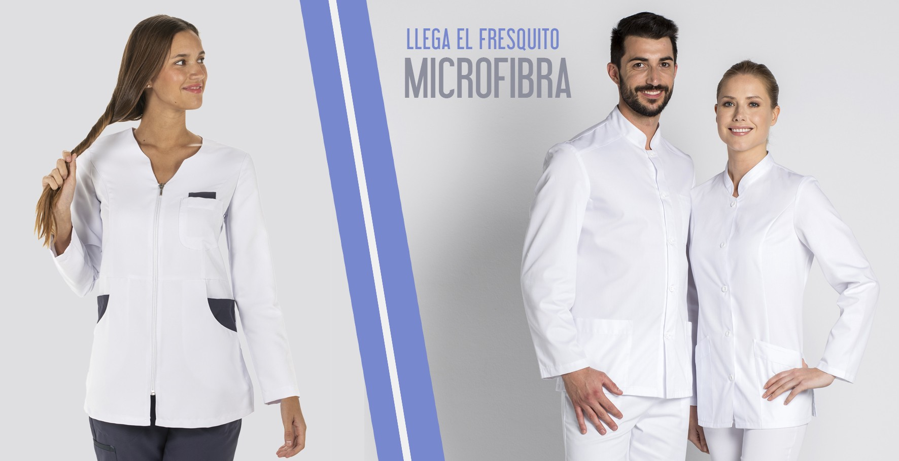 chaqueta sanitaria blanca